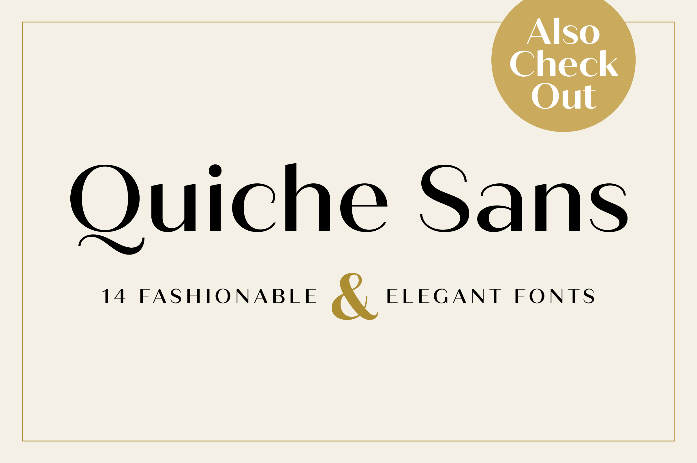 Quiche Sans Regular and Bold Fonts example image 18