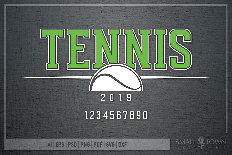 Tennis, tennis ball, Sports, Team logo, PRINT, CUT & DESIGN example image 5