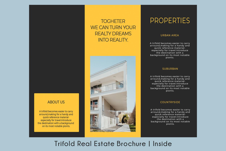 Trifold Real Estate Printable Brochure |Templates PSDAI A4