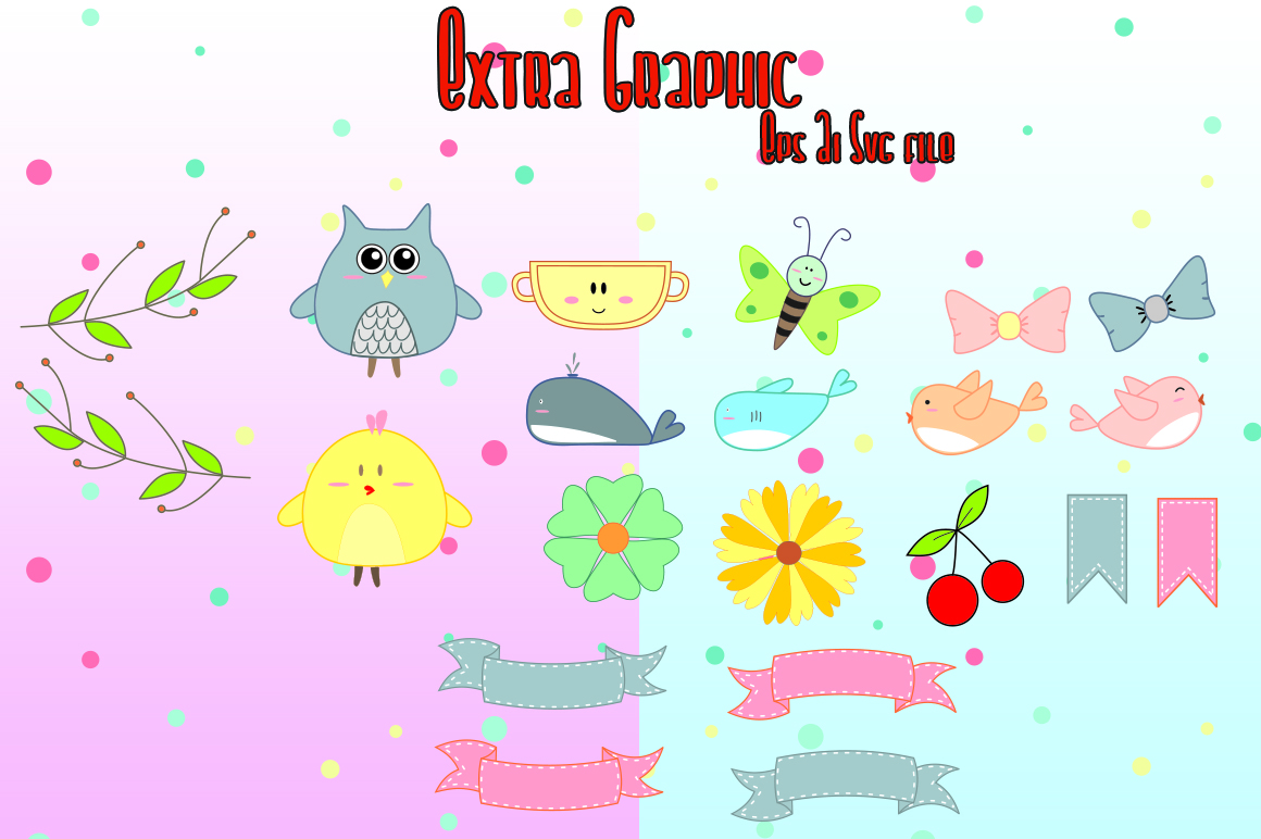 Chiko & Owlie - Extra Cute Graphic example image 9