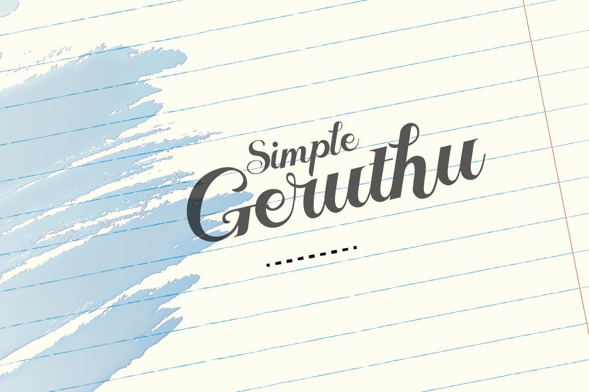 Geruthu Font example image 1