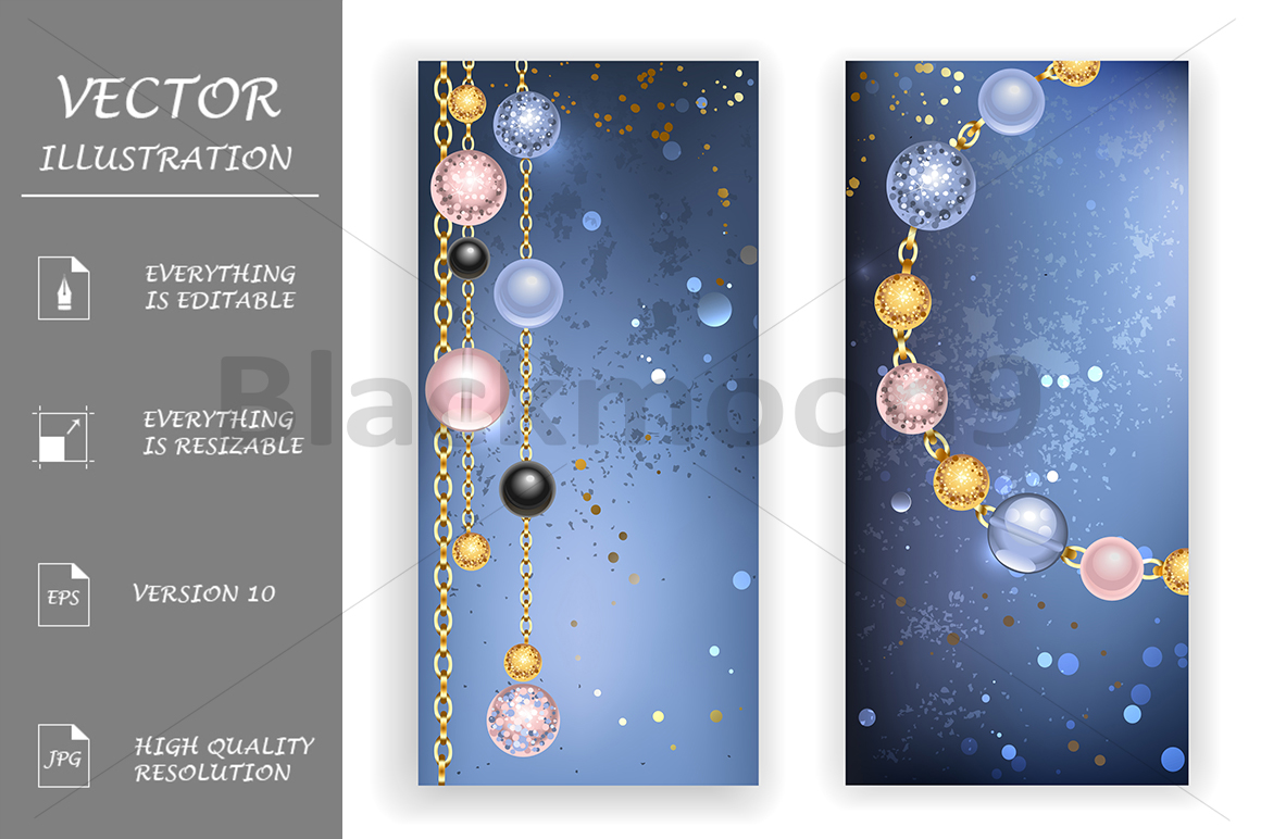 Two Banners with Beads example image 1