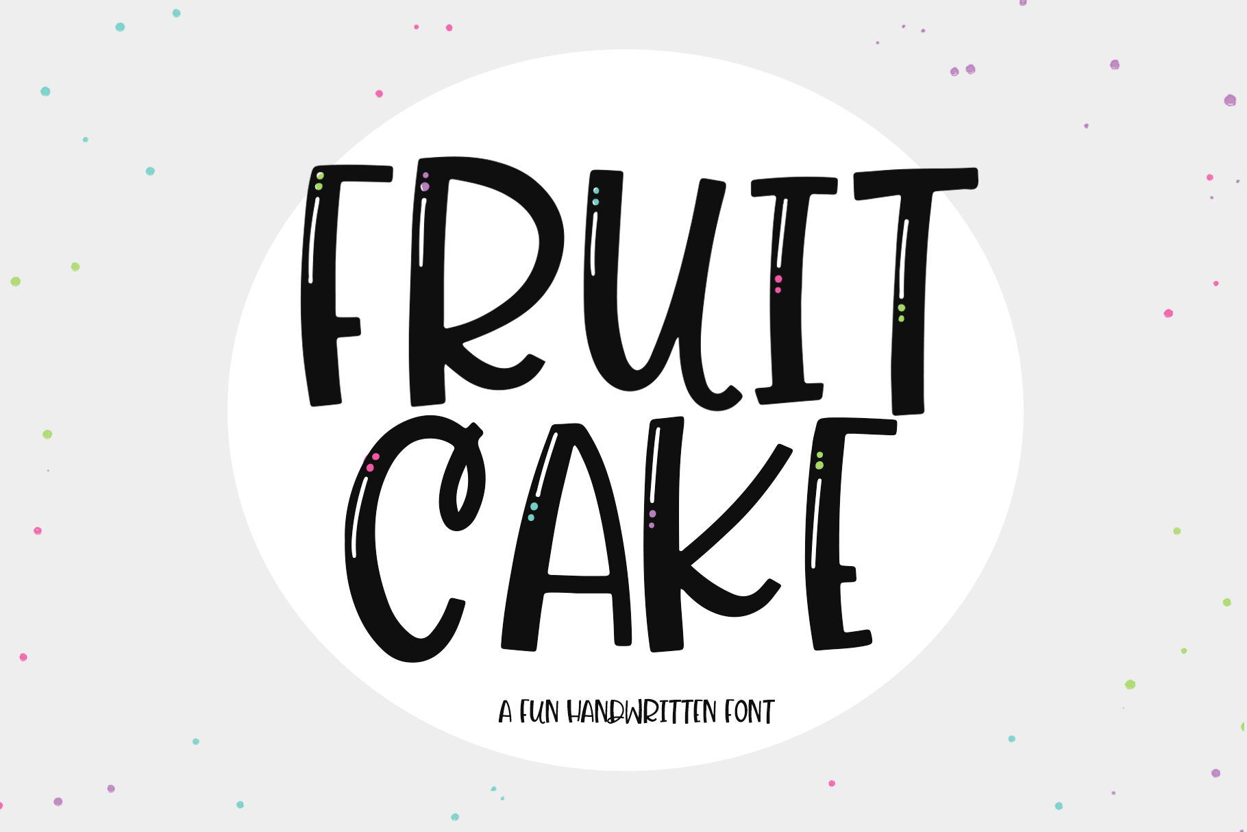 Fruit Cake - A Handwritten Font example image 1