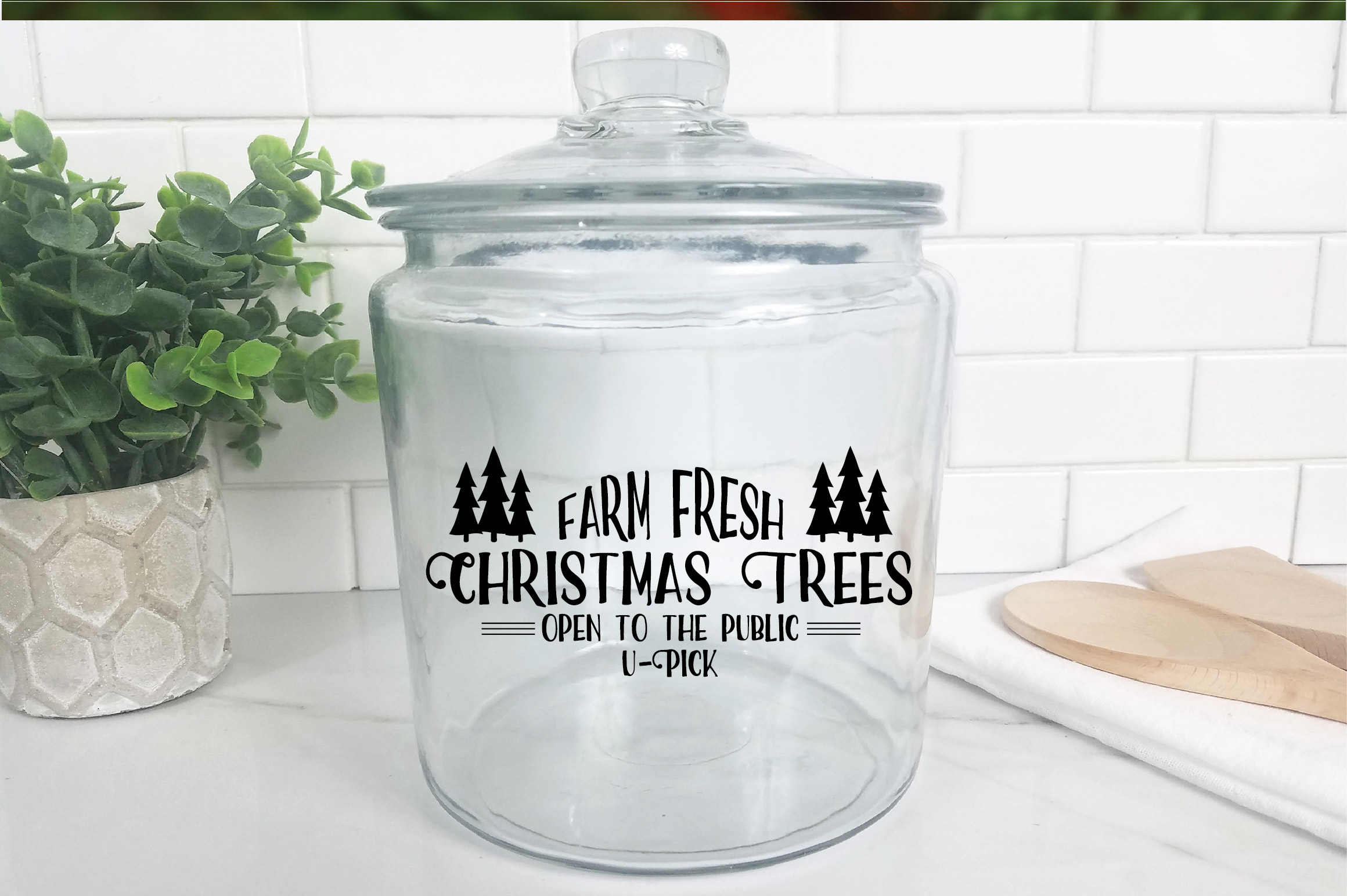 Christmas SVG Cut File - Christmas Trees SVG DXF PNG EPS JPG example image 9