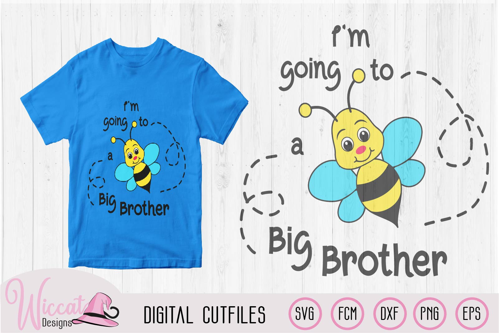 Big Brother svg, kids svg, Bee quote svg, word pun svg, example image 1