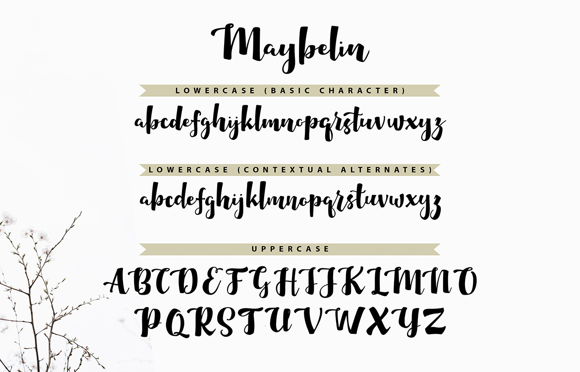 Maybelin | Unique Handcrafted Script Font example image 7