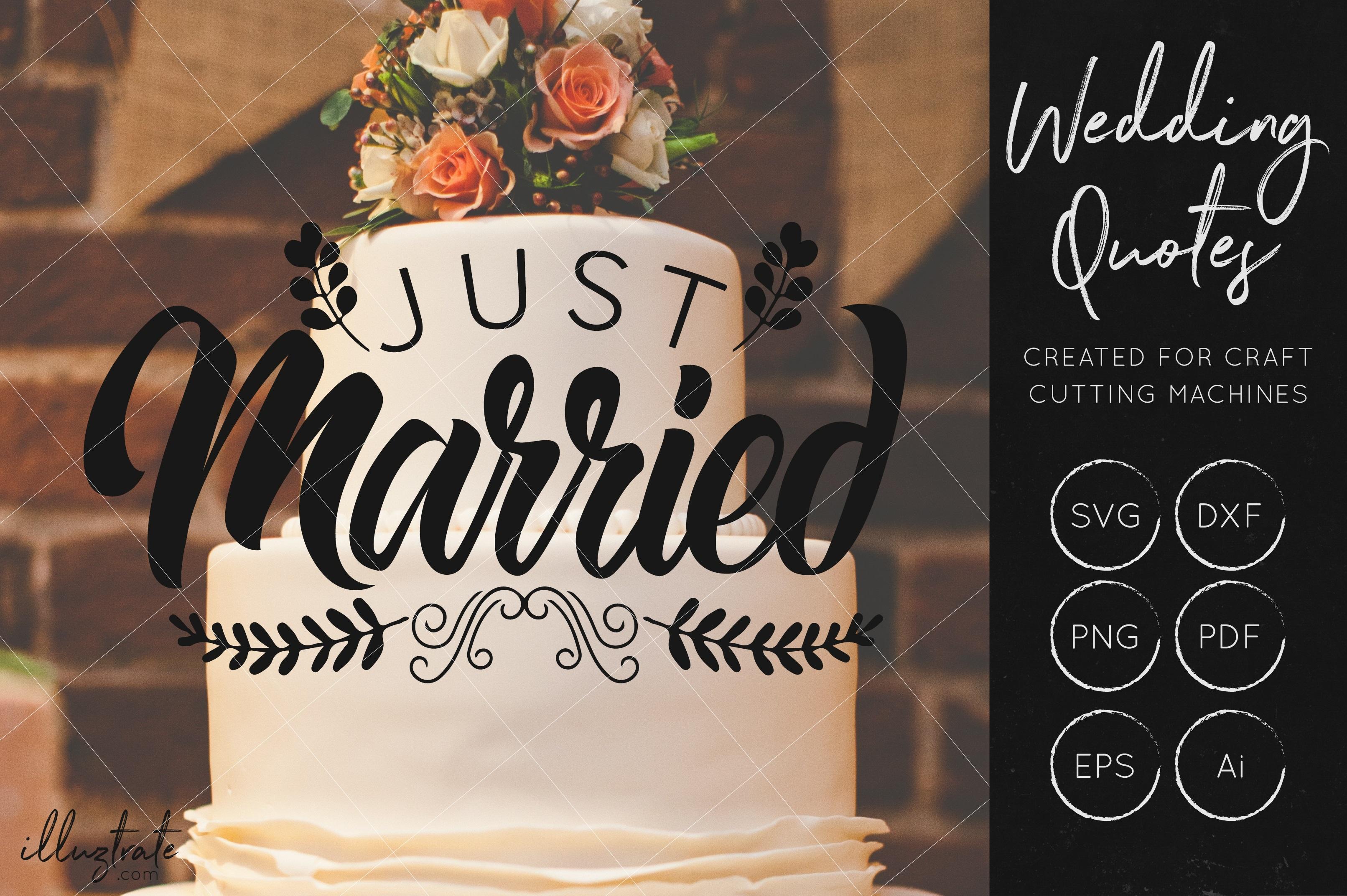 Wedding SVG Cut Files Bundle - Wedding Quotes - Wedding SVG example image 6