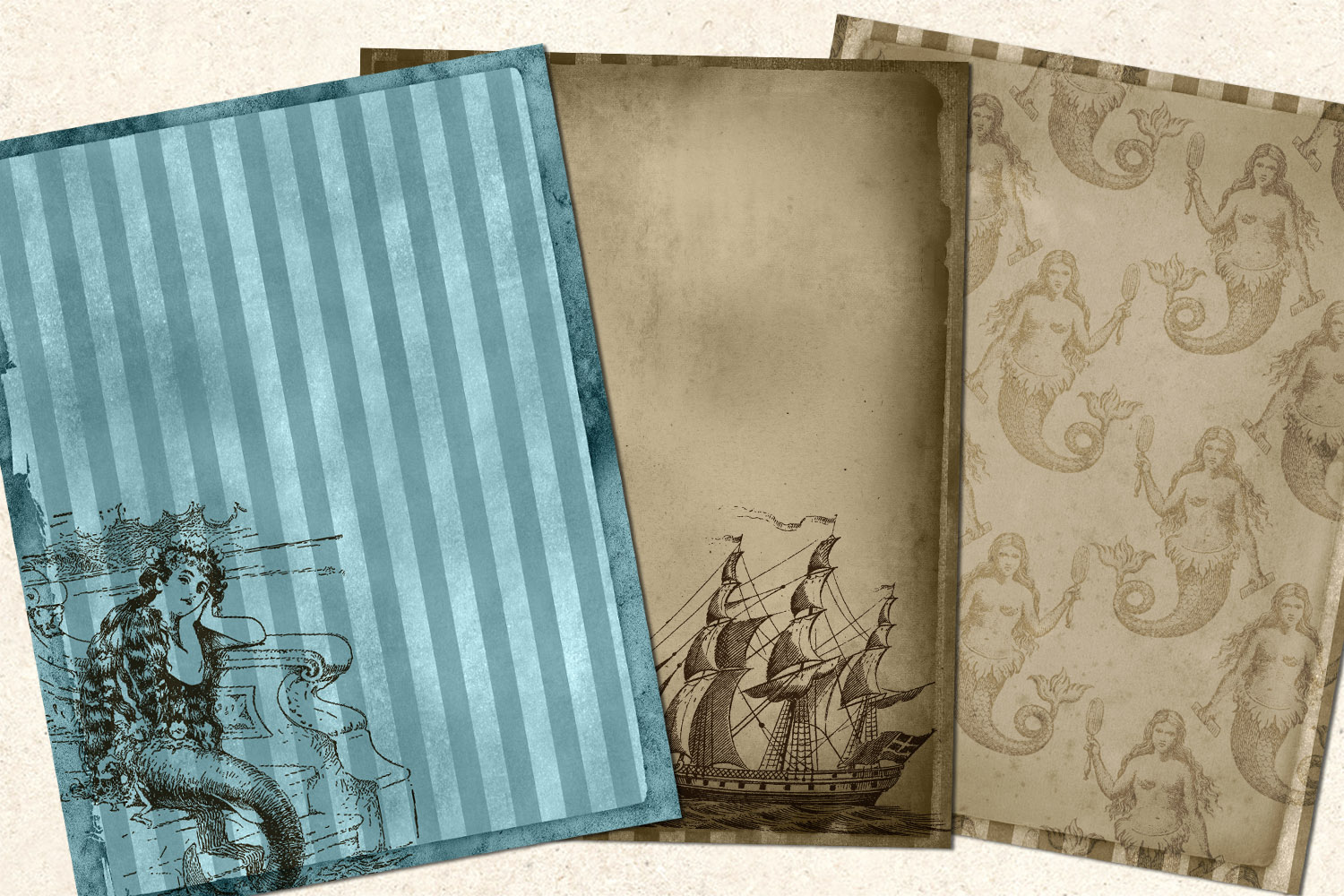 Sea Shanty Printable Journal Paper example image 4