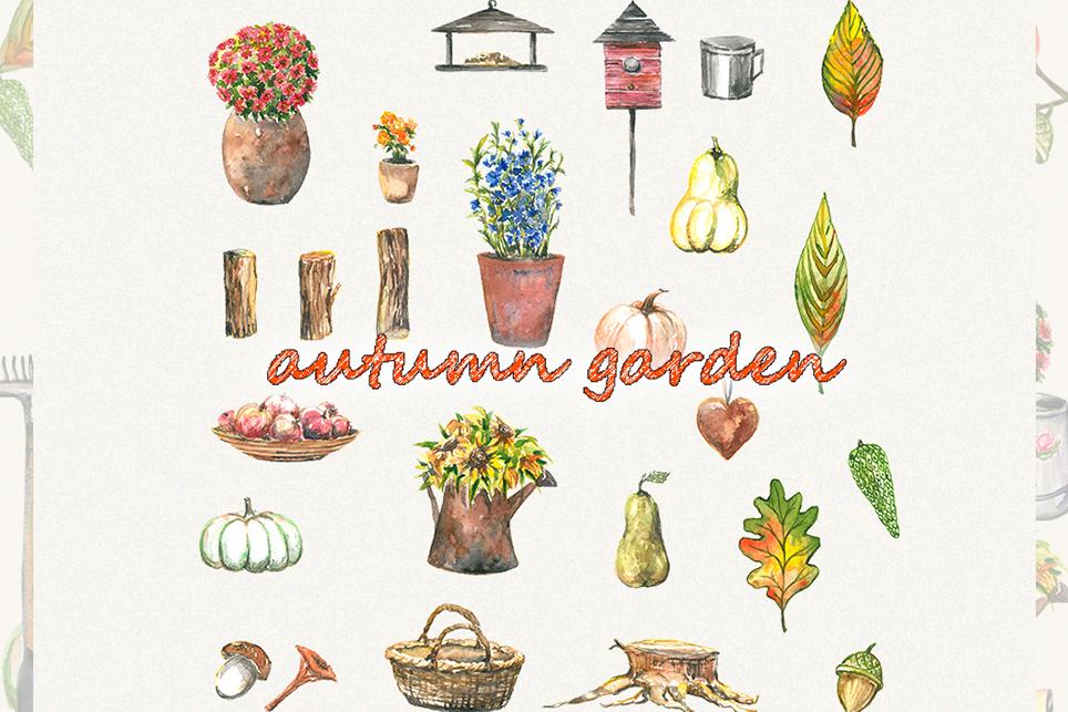 Garden clipart, spring clipart, garden tools, watercolor example image 3