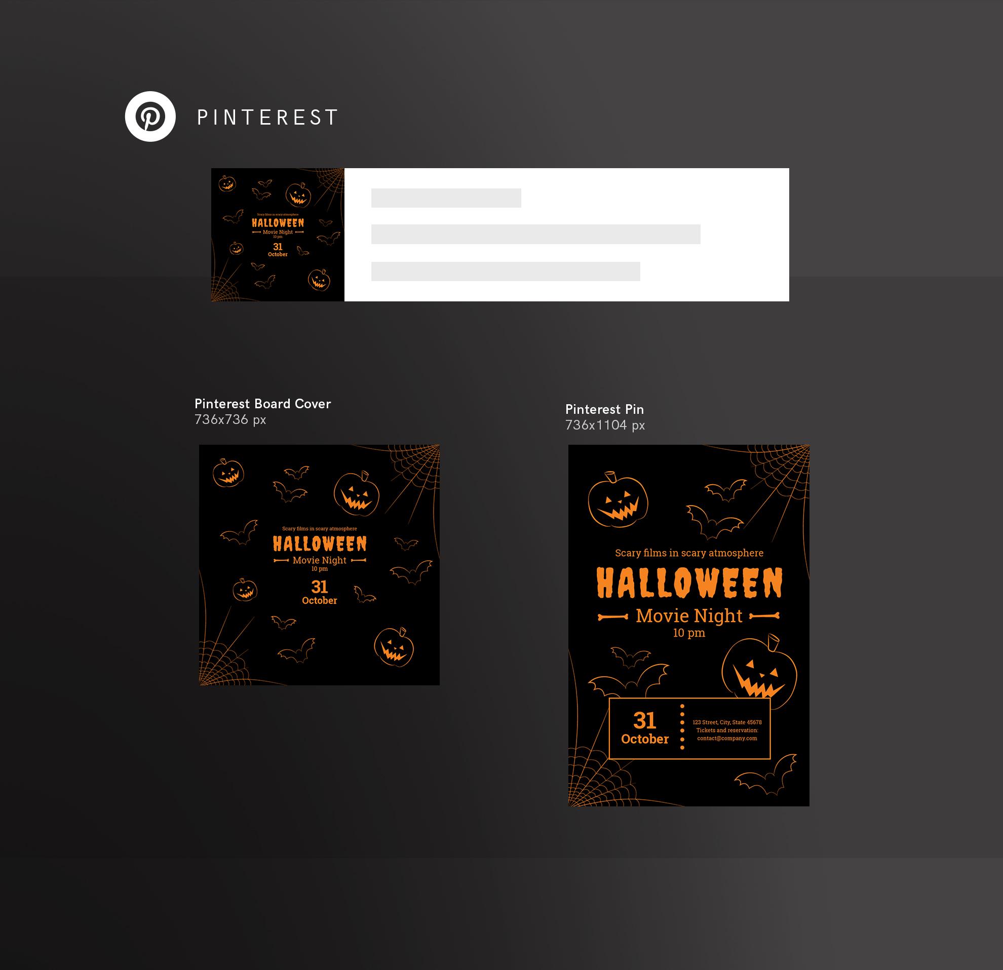 Halloween Movie Night Design Templates Bundle example image 11