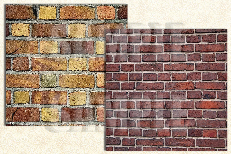 Bricks Digital Paper, Brick Textures, Digital Background example image 2
