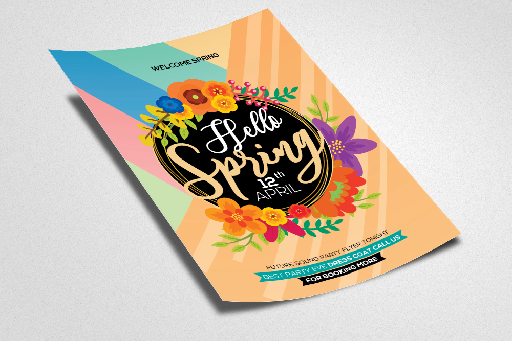 Hello Spring Flyer Template example image 2