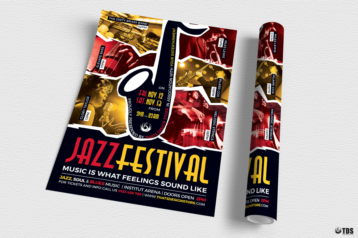 Jazz Festival Flyer Template V8 example image 3