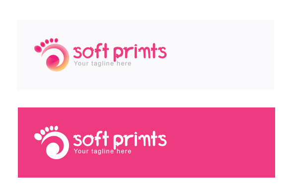 Soft Prints - Human Foot Stock Logo Template example image 2
