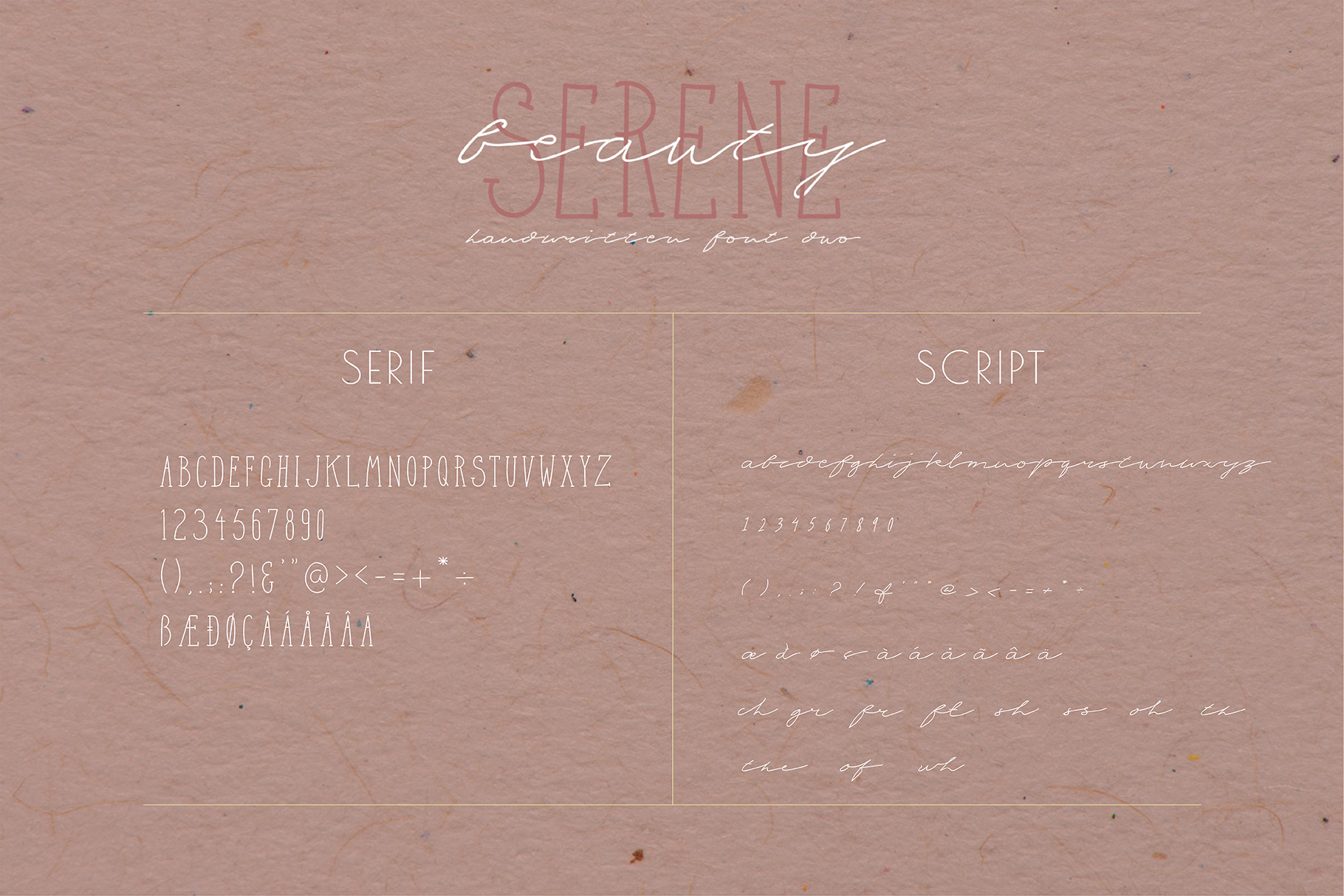 Serene Beauty Handwritten Font Duo example image 5