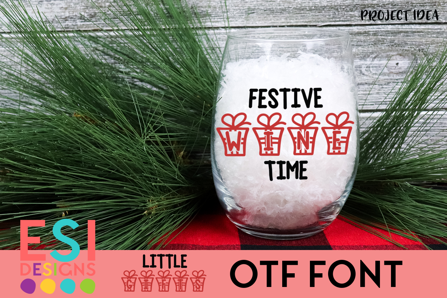 Little Gifts Christmas Font example image 2