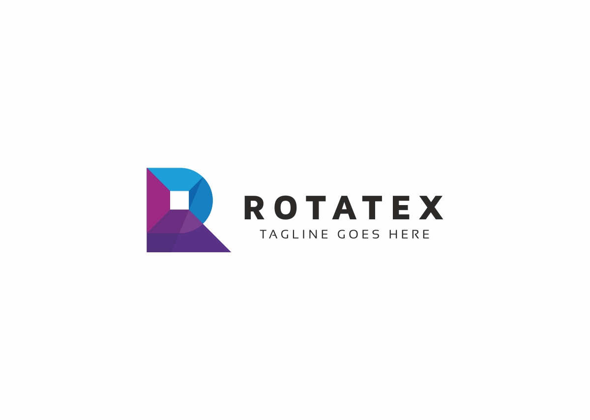 Rotatex R Letter Logo example image 3