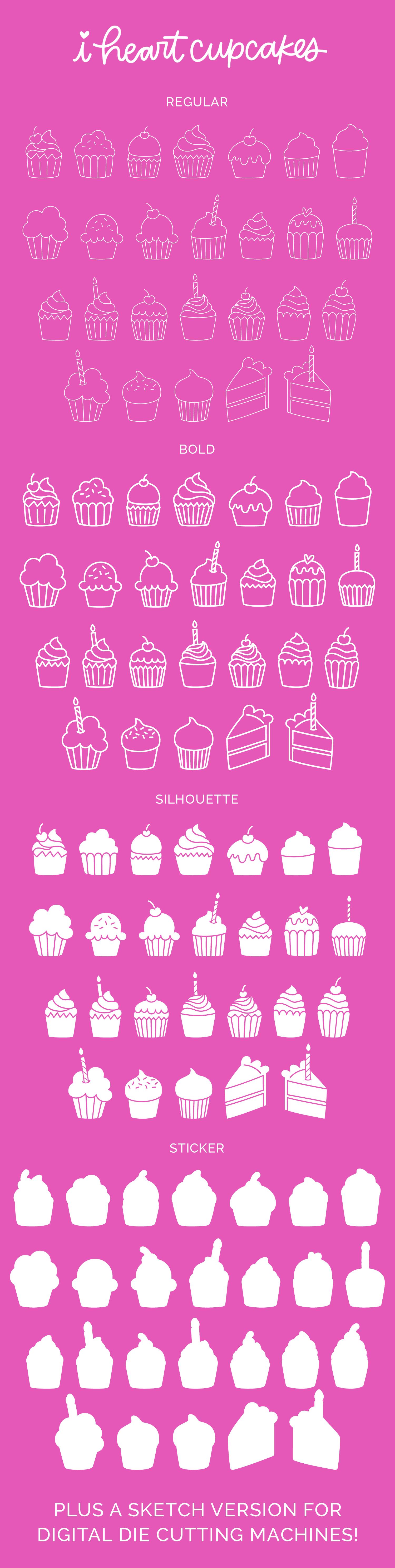 I Heart Cupcakes Dingbat Font example image 5