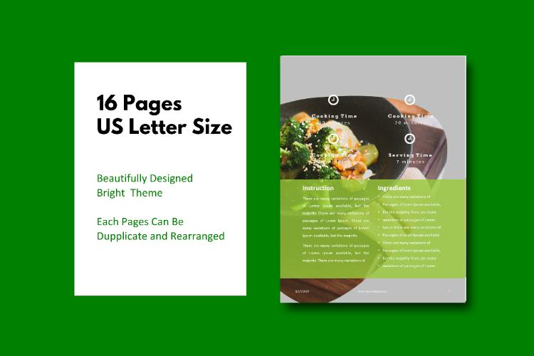 Recipe eBook Template - Vegan Recipe Theme example image 4