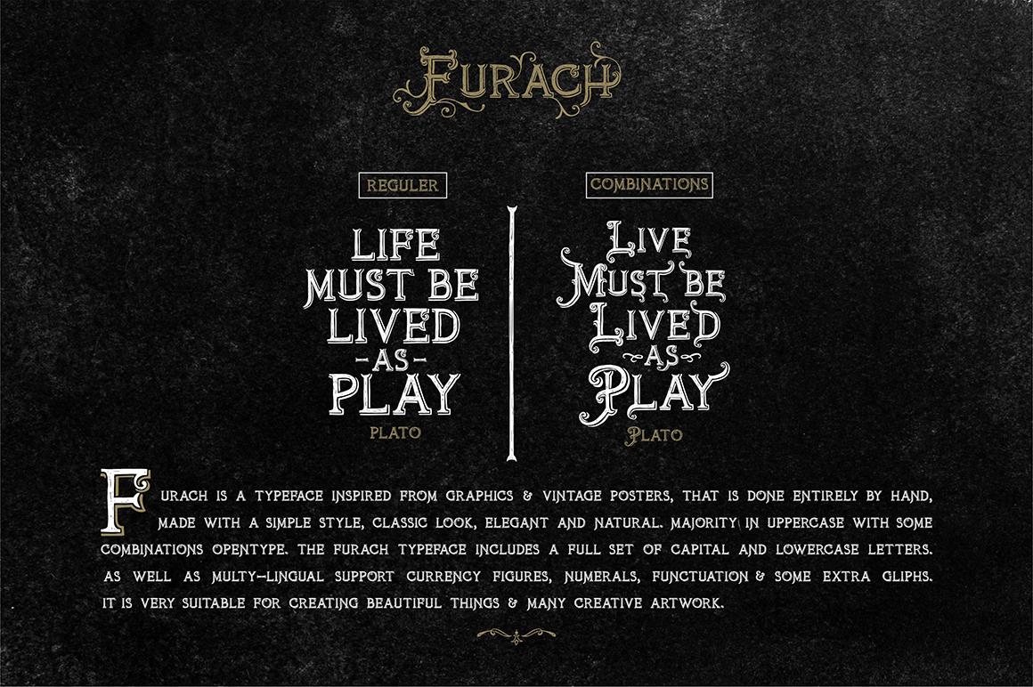 Furach Typeface + Bonus example image 3