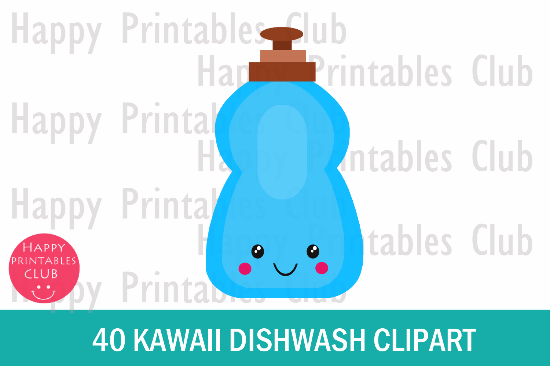 40 Kawaii Dishwash Clipart- Dishwash Clipart PNG Images example image 2