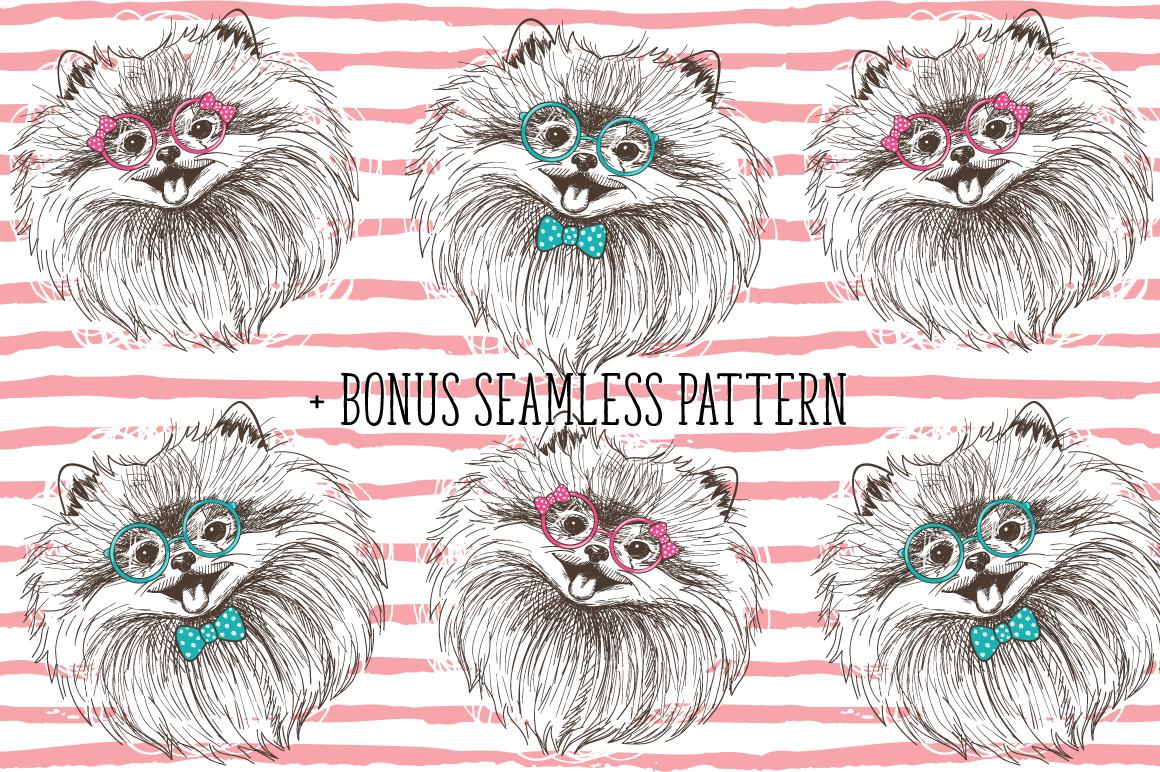 Pomeranian dogs print + bonus! example image 4