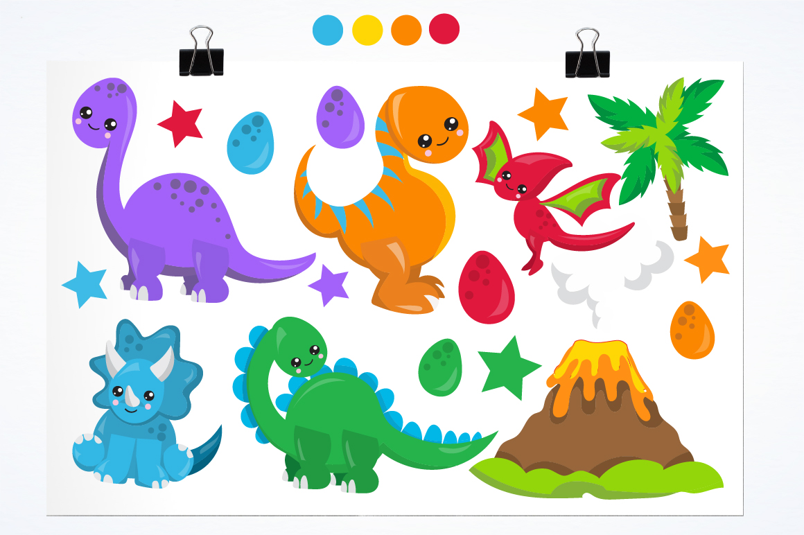 Party Dinosaurs graphics and illustrations example image 2