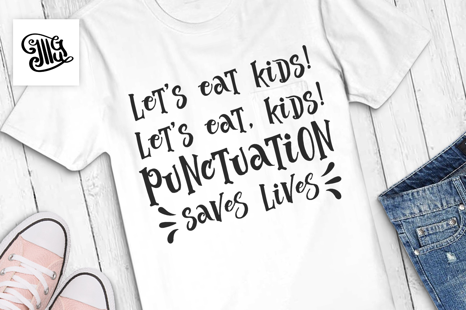 Let's eat kids! Let's eat, kids! Punctuation saves lives example image 1