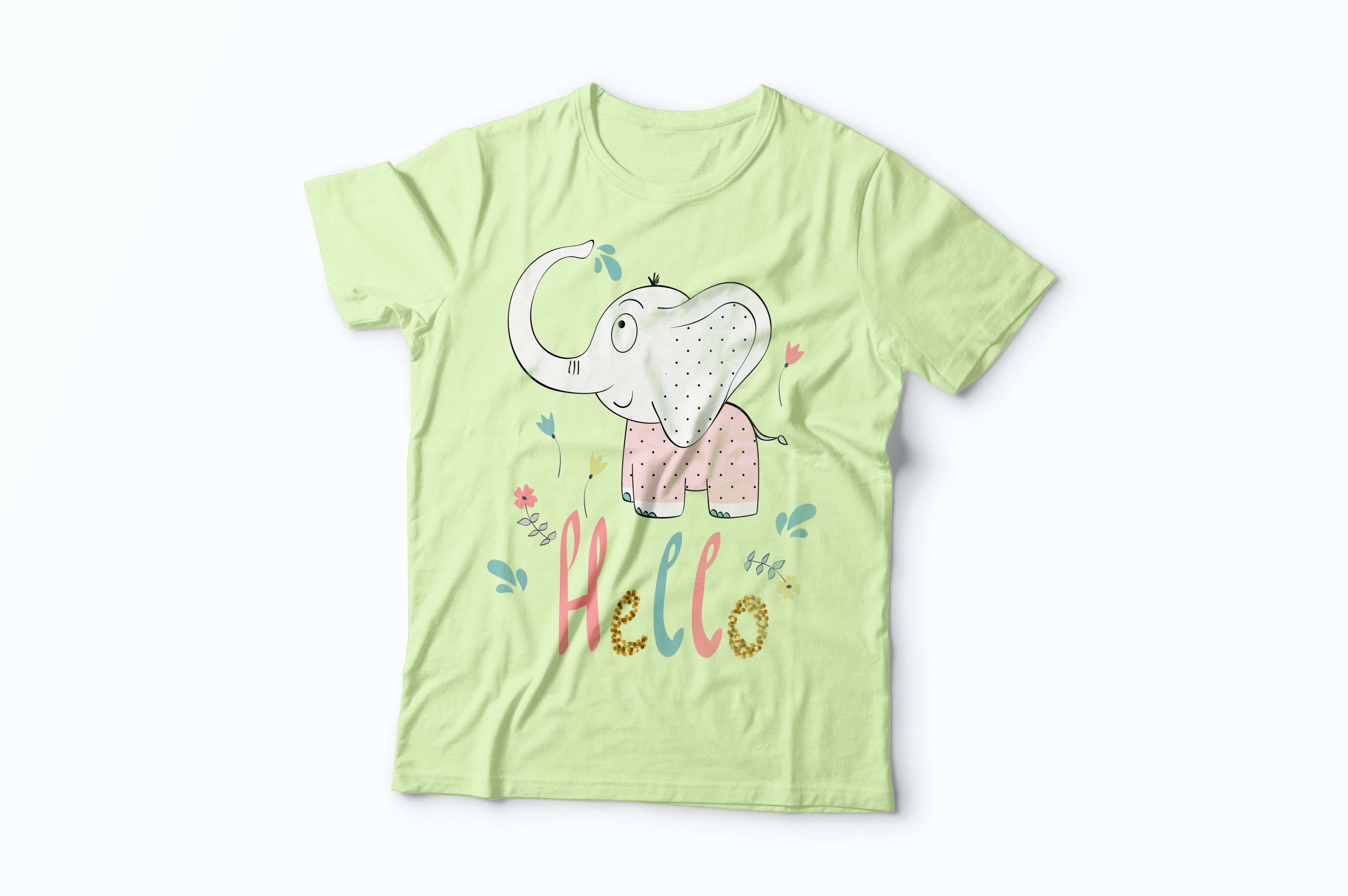 Cute elephants. Kit example image 4