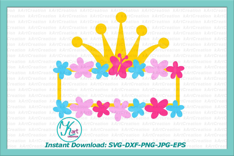 Princess Toddler Monograms bundle SVG DXF cutting files example image 7