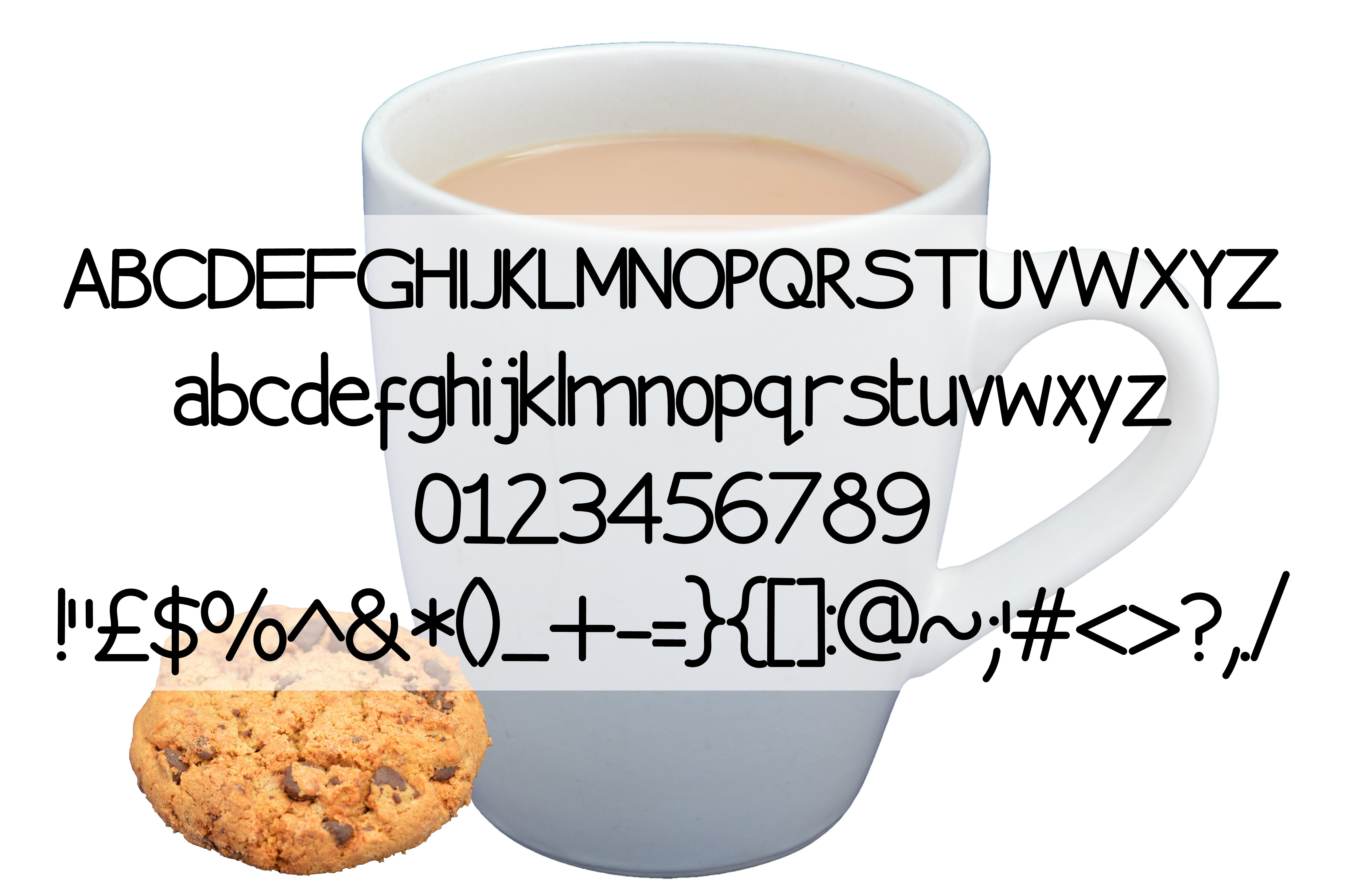 Chocolate Biscuit Font. example image 4
