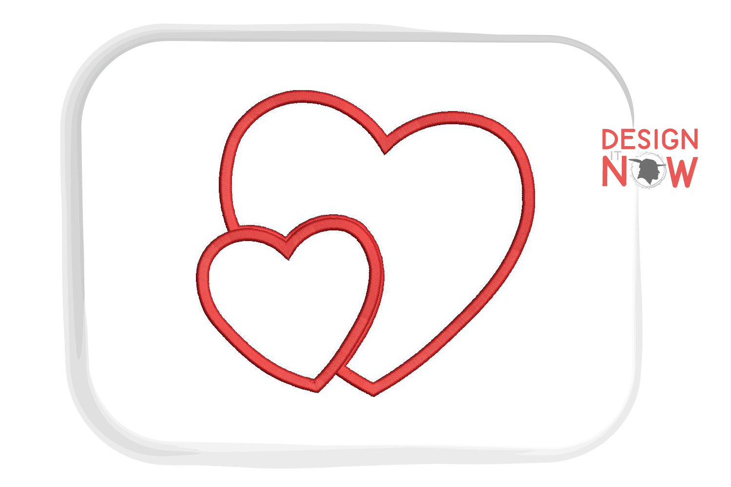 Heart Applique Embroidery Design, Heart Embroidery Pattern example image 4
