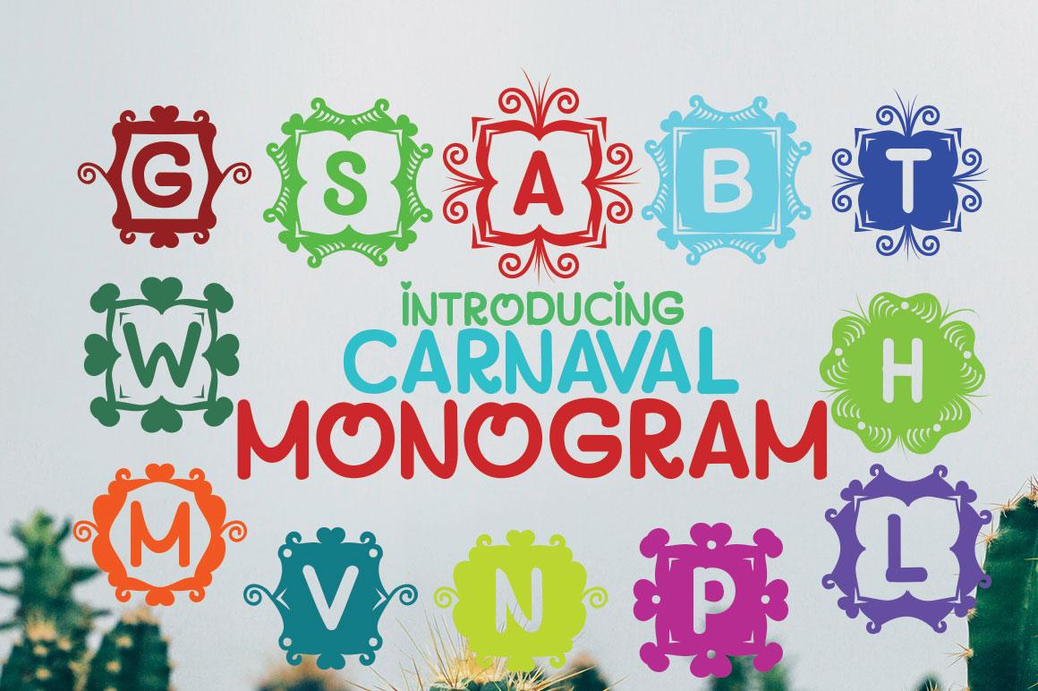 MONOGRAM CARNAVAL example image 1