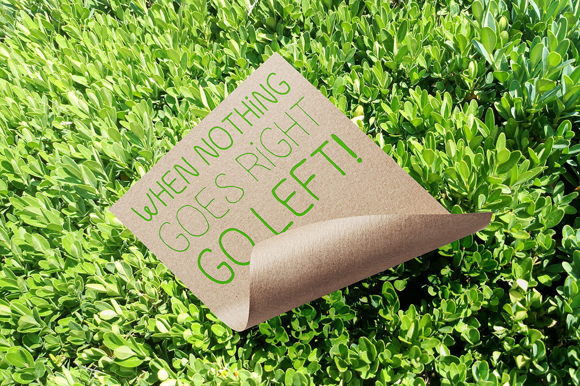 Go Green - handdrawn font example image 4