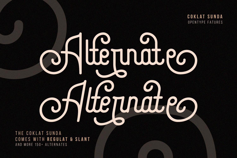 Coklat Sunda - The Monoline Font example image 3