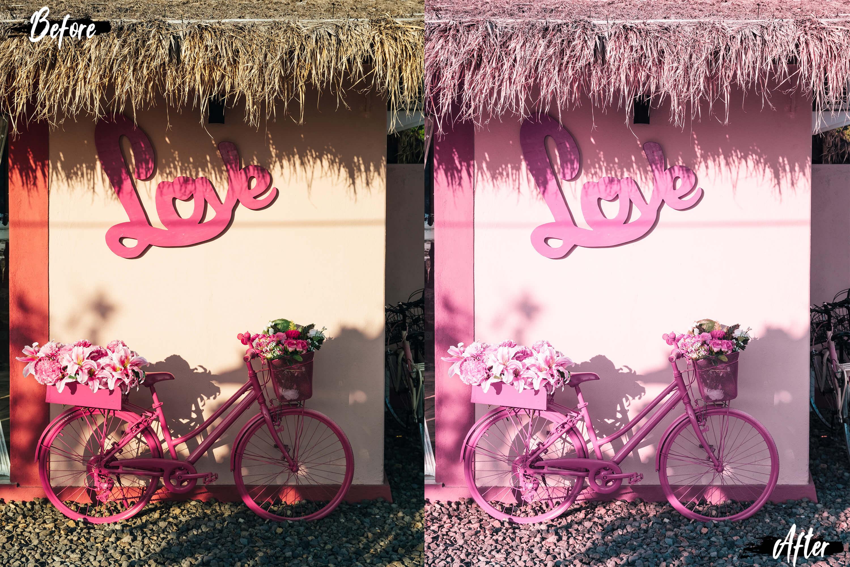 Neo Pink Scent Theme Desktop Lightroom Presets example image 8