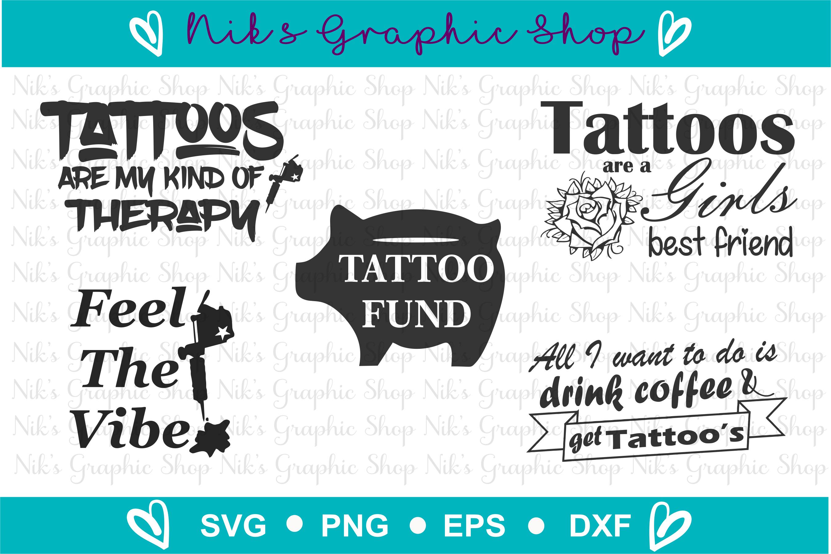 Tattoo Svg, Tattoo Gun, Tattoo Girls, Ink Svg, Tattoo Svg example image 2