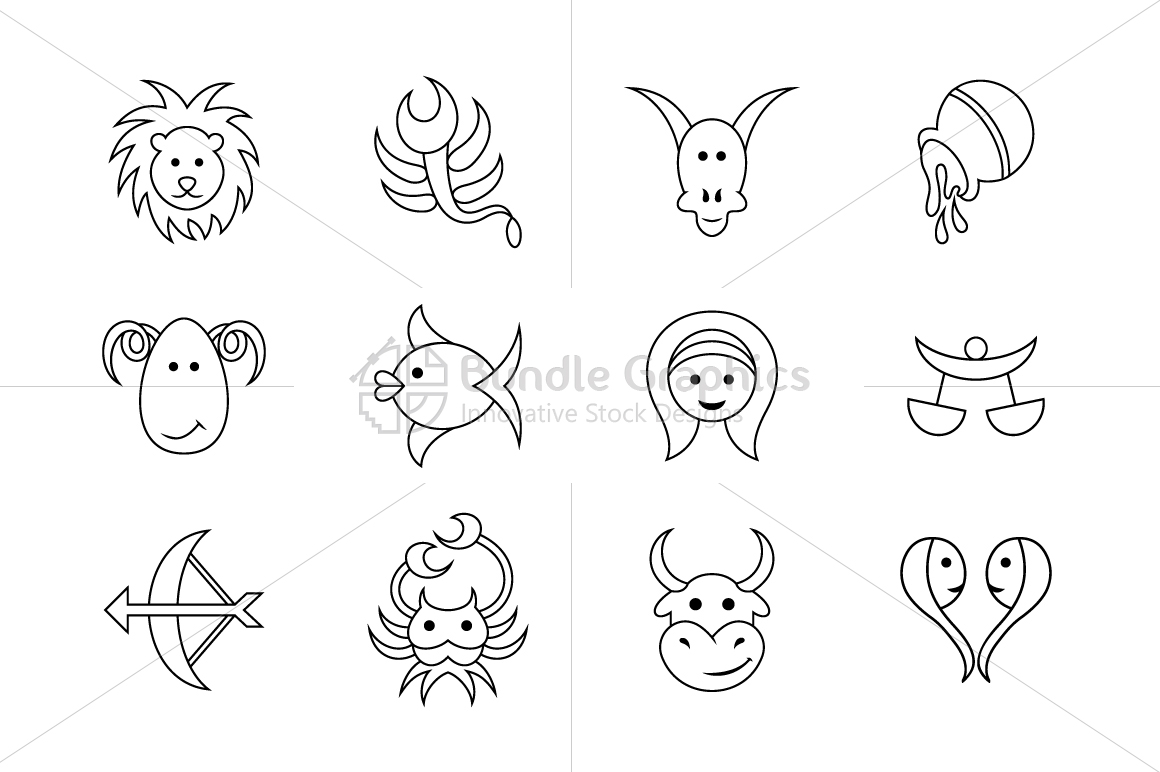 Comic Style Zodiac Signs - Iconic Set example image 2