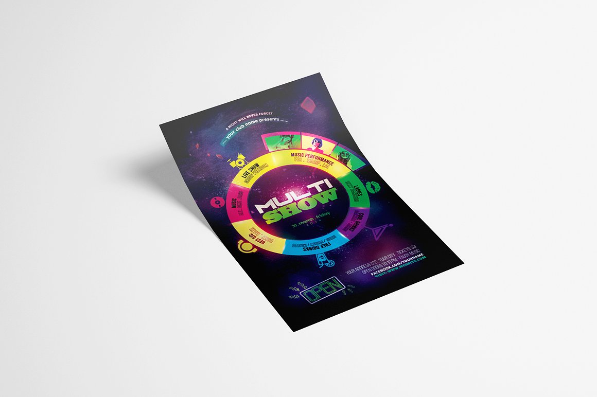 Multi Show Flyer Template example image 3