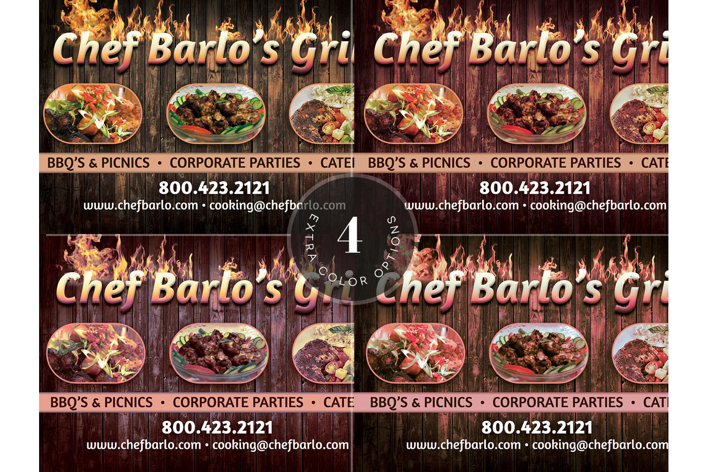 Chef Business Card Template example image 2