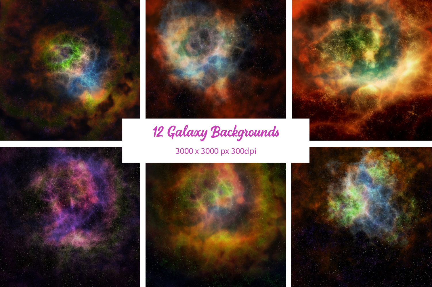 12 Galaxy Backgrounds example image 1