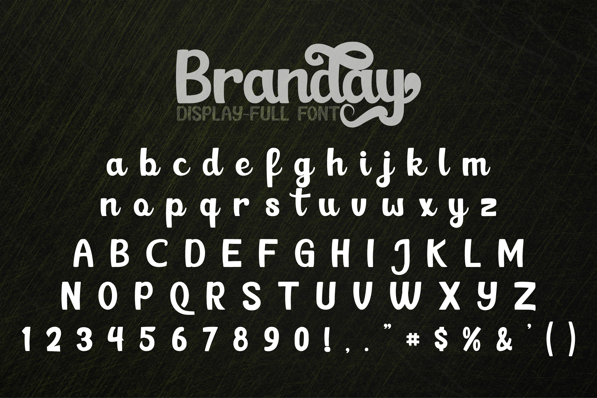 Branday Unique Display Font example image 4