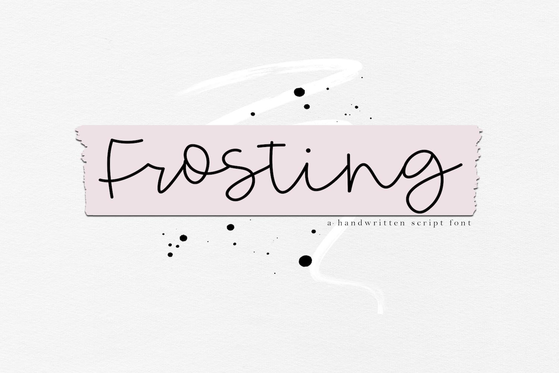 Frosting - Handwritten Script Font example image 1