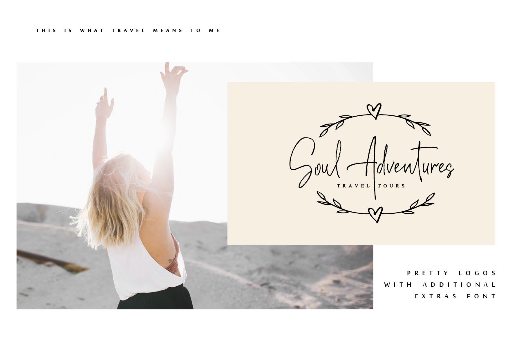 Soul Adventures script font + Extras example image 11