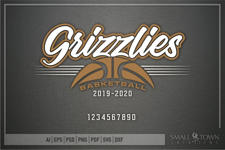 Grizzlies, Basketball, Sport, Team, Logo, PRINT, CUT, DESIGN example image 5