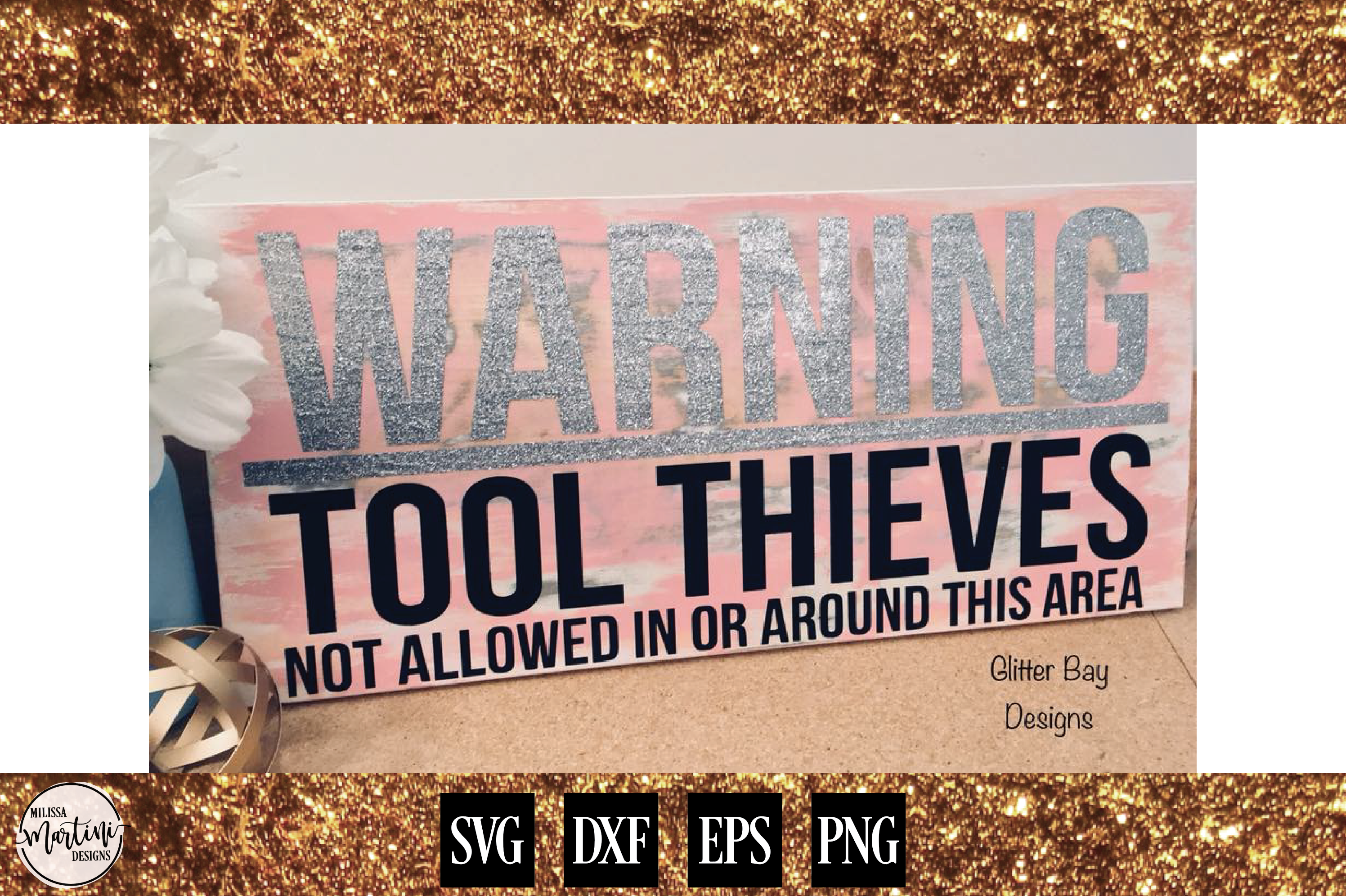 WARNING TOOL THEIVES Mechanic Sign Shirt Decal example image 2