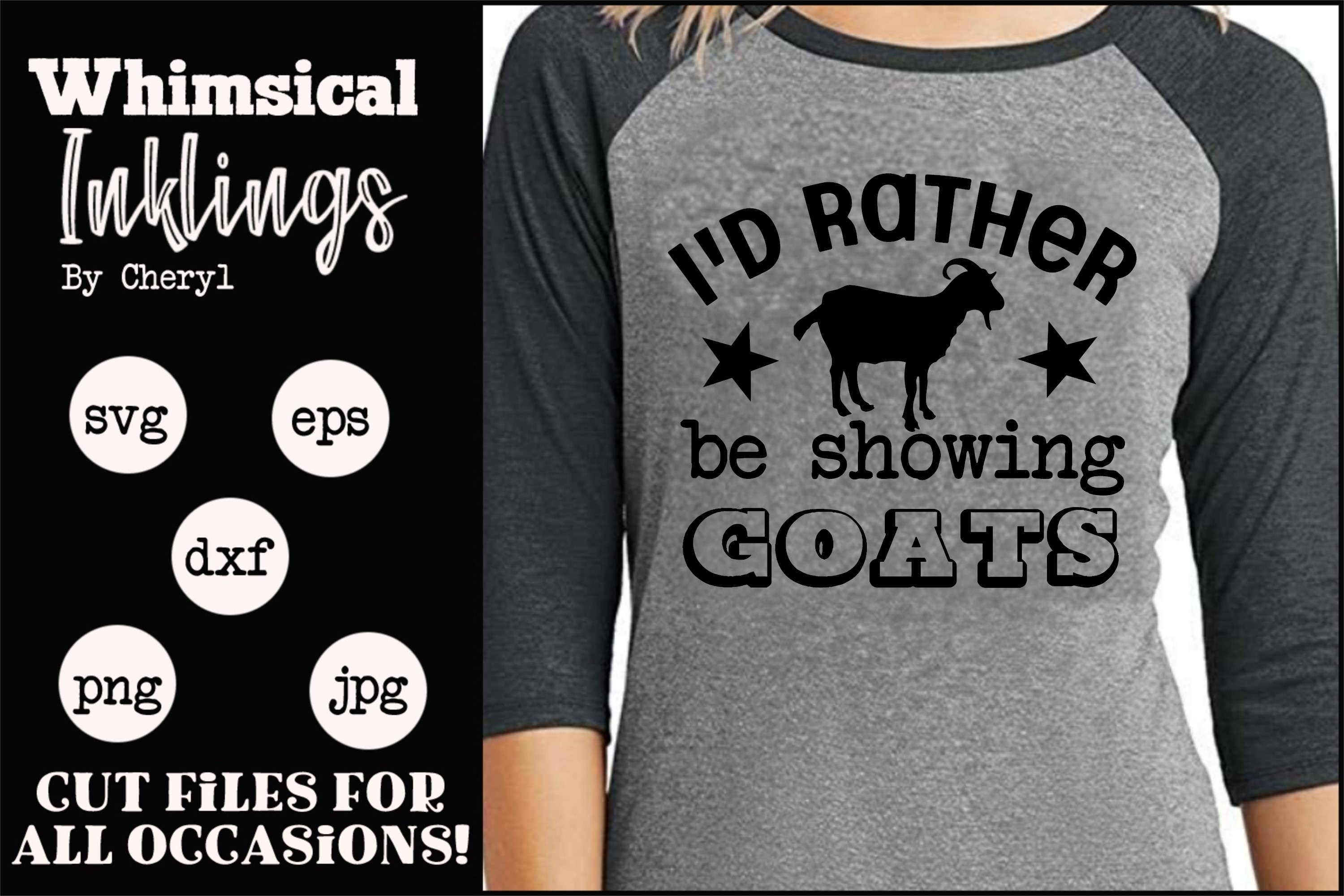 Showing Goats SVG example image 1