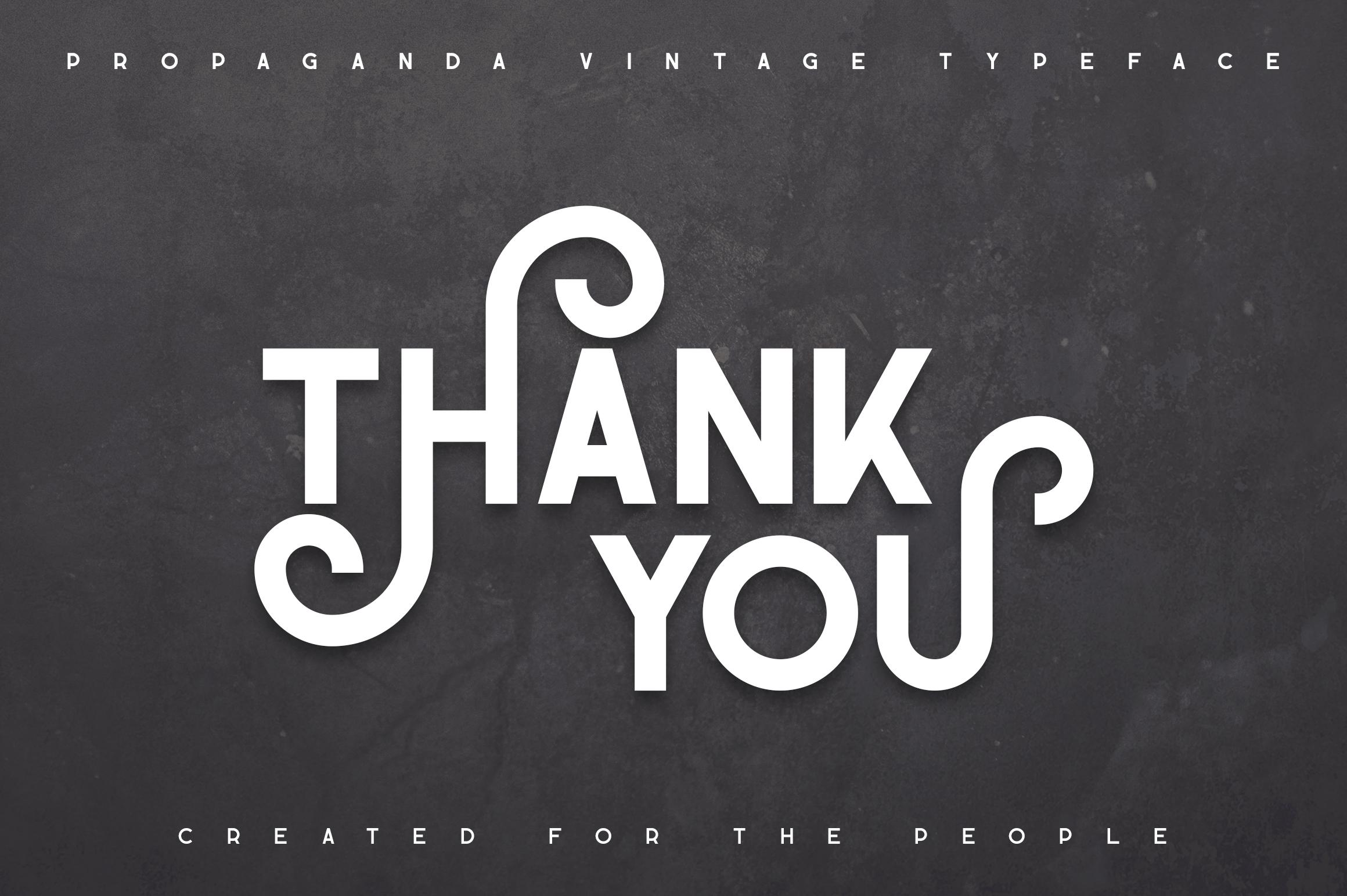 Propaganda - Vintage typeface example image 12