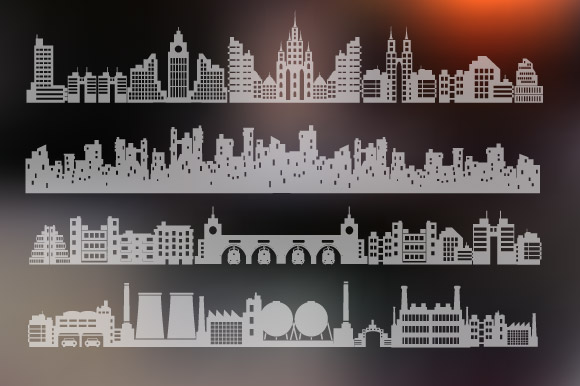Vector set of city landscape example image 4