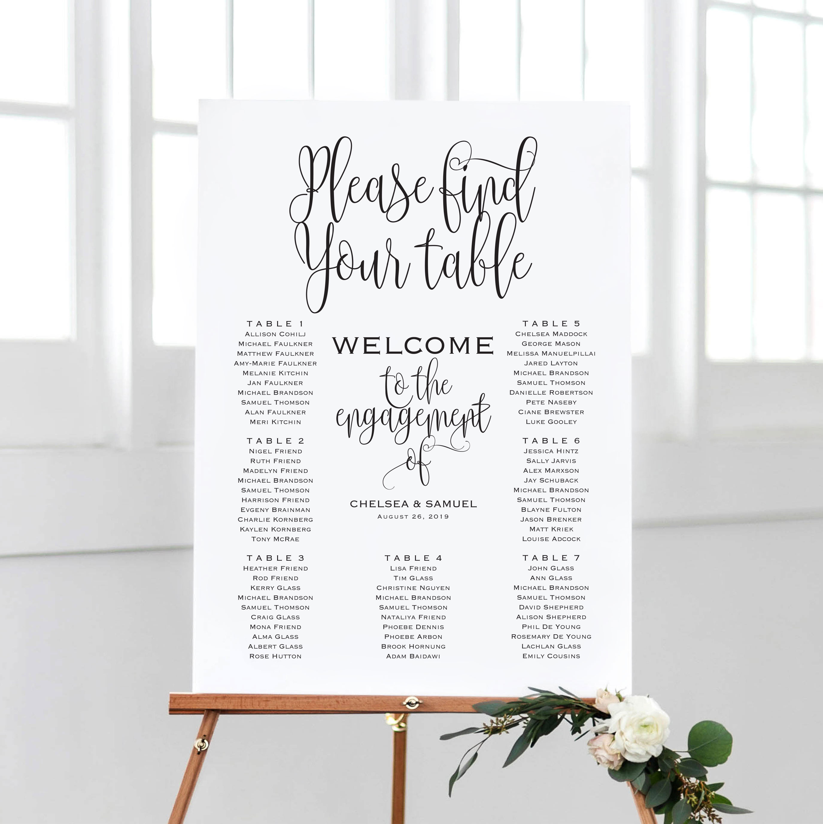 Wedding Seating Chart Sign example image 2